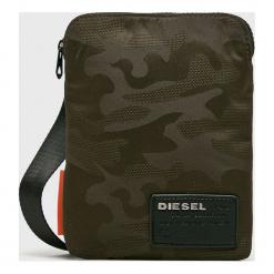 Diesel - Saszetka. Brązowe saszetki męskie Diesel, z materiału, casualowe. Za 239.90 zł.