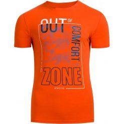 T-shirt męski TSM617 - pomarańcz - Outhorn. Brązowe t-shirty męskie Outhorn, na lato, z bawełny. Za 39.99 zł.
