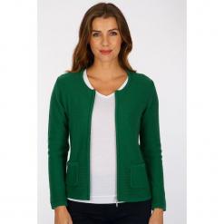 """Kardigan """"Banou"""" w kolorze zielonym. Zielone kardigany damskie Scottage, z dzianiny. W wyprzedaży za 68.95 zł."""