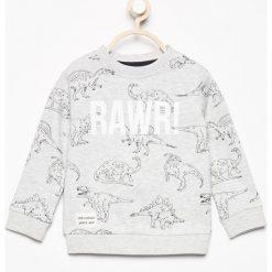 Bluza z nadrukiem dinozaurów - Beżowy. Bluzy dla chłopców Reserved, z nadrukiem. W wyprzedaży za 29.99 zł.