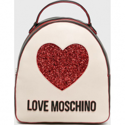 Love Moschino - Plecak. Szare plecaki damskie Love Moschino, z materiału. Za 799.90 zł.