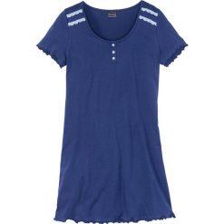 Koszula nocna bonprix kobaltowo-perłowy niebieski. Niebieskie koszule nocne damskie bonprix. Za 34.99 zł.