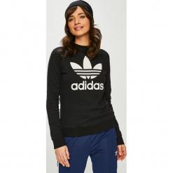 Adidas Originals - Bluza. Czarne bluzy damskie adidas Originals, z nadrukiem, z bawełny. Za 249.90 zł.