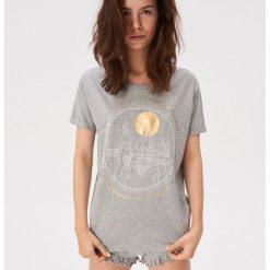 4056cfa4c4c15c Piżama ze złocistym zdobieniem - Szary. Szare piżamy damskie Sinsay, l, z  aplikacjami