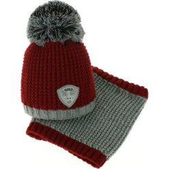 Czapka dziecięca z kominkiem CZ+k 046A. Brązowe czapki dla dzieci Proman. Za 60.67 zł.