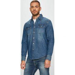 Calvin Klein Jeans - Koszula. Szare koszule męskie Calvin Klein Jeans, z bawełny, z klasycznym kołnierzykiem, z długim rękawem. Za 359.90 zł.