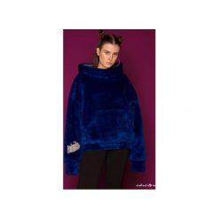 Bluza FakaFutro-  Fake Fur- True Luv. Niebieskie bluzy sportowe damskie Orientalion, z futra. Za 390.00 zł.