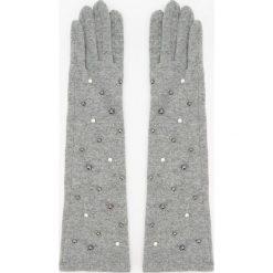Długie wełniane rękawiczki - Szary. Rękawiczki damskie marki B'TWIN. W wyprzedaży za 39.99 zł.