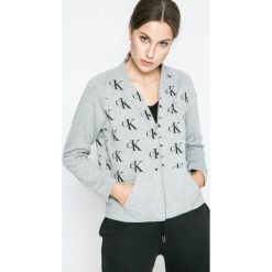 Calvin Klein Underwear - Bluza piżamowa. Szare piżamy damskie Calvin Klein Underwear, z bawełny. W wyprzedaży za 159.90 zł.