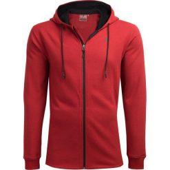 Bluza męska BLM605 - czerwony melanż - Outhorn. Czerwone bluzy męskie Outhorn, melanż. W wyprzedaży za 99.99 zł.