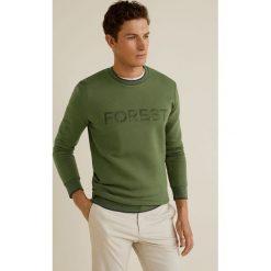 Mango Man - Bluza Forest. Szare bluzy męskie Mango Man, z aplikacjami, z bawełny. Za 159.90 zł.