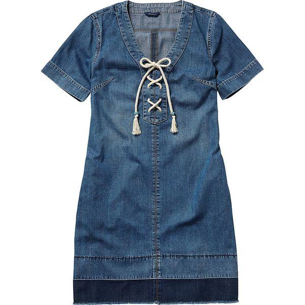 fcd31100cc Sukienka Dżinsowa W Kolorze Niebieskim Niebieskie Sukienki Damskie