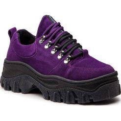 Półbuty BRONX - 66230-C BX 1553 Purple. Fioletowe półbuty damskie Bronx, z materiału. Za 605.00 zł.