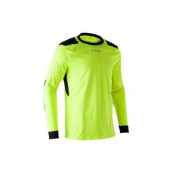 Koszulka bramkarska F100. Żółte bluzki z długim rękawem męskie KIPSTA, z materiału. Za 49.99 zł.