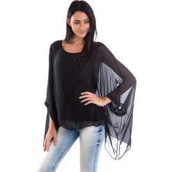 Koszulka w kolorze czarnym. T-shirty damskie 100% Soie, klasyczne, z okrągłym kołnierzem, z długim rękawem. W wyprzedaży za 130.95 zł.
