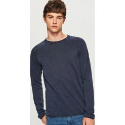 Sweter - Granatowy. Swetry przez głowę męskie marki Giacomo Conti. W wyprzedaży za 49.99 zł.