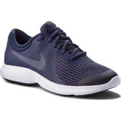 Buty NIKE - Revolution 4 (GS) 943309 501 Natural Indigo/Light Carbon. Niebieskie obuwie sportowe damskie Nike, z materiału. W wyprzedaży za 159.00 zł.