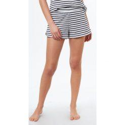 Etam - Szorty piżamowe Jim. Szare piżamy damskie Etam, z bawełny. W wyprzedaży za 34.90 zł.
