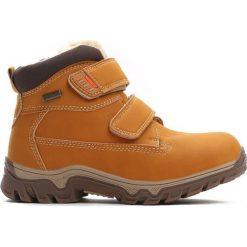 Camelowe Traperki Out In Front. Brązowe buty zimowe chłopięce Born2be, z materiału. Za 89.99 zł.