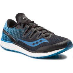 Buty SAUCONY - Freedom Iso S20355-7 Blk/Blu. Czarne buty sportowe męskie Saucony, z materiału. W wyprzedaży za 489.00 zł.