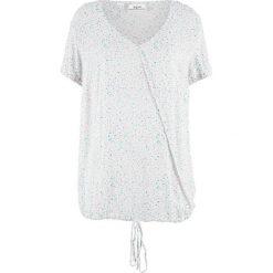Tunika bluzkowa z nadrukiem bonprix biały z nadrukiem. Tuniki damskie marki bonprix. Za 27.99 zł.