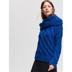 Gruby sweter - Niebieski. Niebieskie swetry damskie Reserved. Za 179.99 zł.