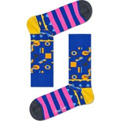 Happy Socks - Skarpetki Mix Max. Niebieskie skarpety damskie Happy Socks, z bawełny. W wyprzedaży za 29.90 zł.