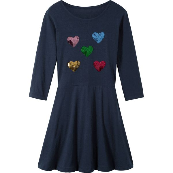 97f207d63a Sukienka dziewczęca z cekinami bonprix ciemnoniebieski - Sukienki ...