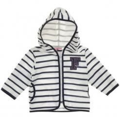Garnamama Sweterek Chłopięcy 62 Biały/Niebieski. Białe swetry dla chłopców Garnamama, z bawełny. Za 35.00 zł.