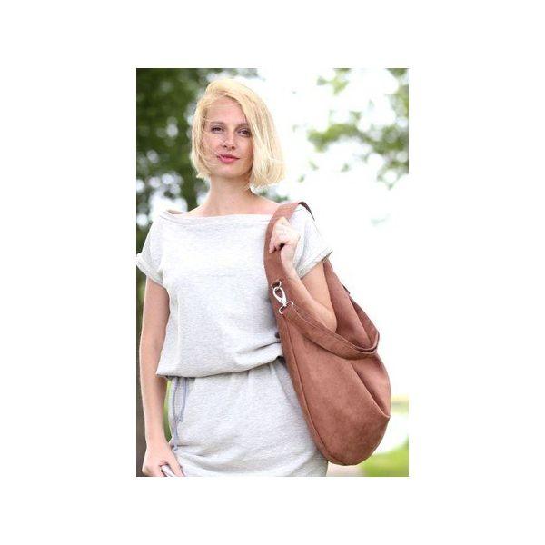 2de74eb37790e Jasno brązowa torba worek z zamszu ekologicznego - Torby i plecaki ...