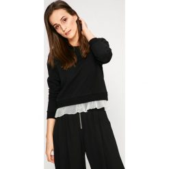 Answear - Bluza. Czarne bluzy damskie ANSWEAR, z bawełny. W wyprzedaży za 49.90 zł.