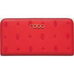 Nobo - Portfel. Czerwone portfele damskie Nobo, w paski, z materiału. W wyprzedaży za 99.90 zł.