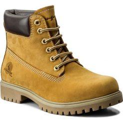 Trapery CANGURO - A028-300 Yellow/Brown. Żółte śniegowce i trapery męskie Canguro, z materiału. W wyprzedaży za 149.00 zł.