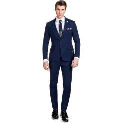 Garnitur LEONARDO GANE000049. Niebieskie garnitury męskie Giacomo Conti, z lycry. Za 899.00 zł.