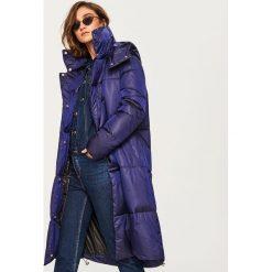 Pikowany płaszcz - Niebieski. Niebieskie płaszcze damskie Reserved. Za 349.99 zł.
