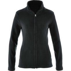 Bluza rozpinana z polaru z wpuszczanymi kieszeniami bonprix czarny. Czarne bluzy damskie bonprix, z polaru. Za 37.99 zł.