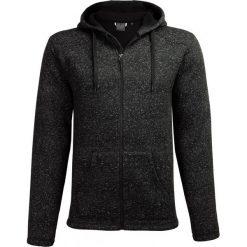 Sweter męski SWM604 - głęboka czerń  melanż - Outhorn. Brązowe swetry przez głowę męskie Outhorn, melanż, z kapturem. W wyprzedaży za 129.99 zł.