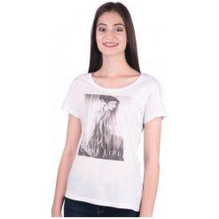Mustang T-Shirt Damski Xs Biały. Białe t-shirty damskie Mustang. W wyprzedaży za 79.00 zł.