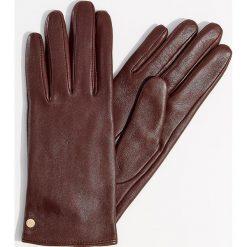 Skórzane rękawiczki - Bordowy. Czerwone rękawiczki damskie Mohito. Za 79.99 zł.