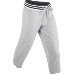 Spodnie sportowe 3/4 bonprix jasnoszary melanż. Spodnie dresowe damskie marki bonprix. Za 37.99 zł.
