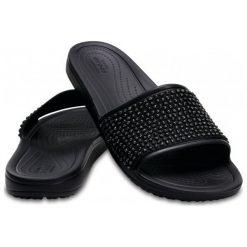 Crocs Damskie Klapki Sloane Embellished Slide Black/Black w6 (36,5). Czarne klapki damskie Crocs, w paski. W wyprzedaży za 146.00 zł.
