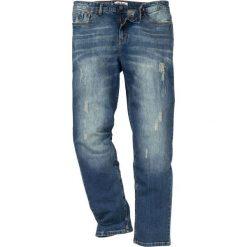 """Dżinsy ze stretchem Regular Fit Tapered bonprix dirty denim """"used"""". Niebieskie jeansy męskie bonprix. Za 109.99 zł."""