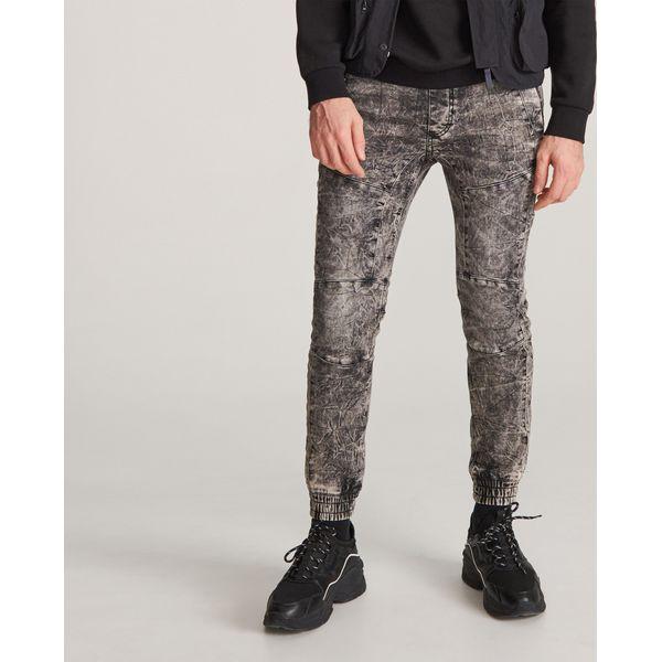 Marmurkowe jeansy jogger Szary