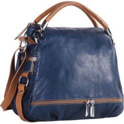 Torebka CREOLE - RBI215 Granat/Brąz. Niebieskie torebki do ręki damskie Creole, ze skóry. W wyprzedaży za 319.00 zł.