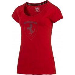 Puma Koszulka Ferrari Big Shield Tee Rosso Corsa M. Czerwone t-shirty i topy dla dziewczynek Puma, z bawełny. W wyprzedaży za 149.00 zł.