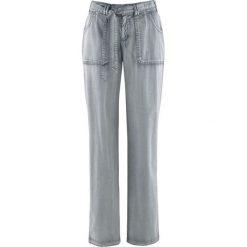 Spodnie bojówki ze stretchem bonprix szary łupkowy. Spodnie materiałowe damskie marki MAKE ME BIO. Za 109.99 zł.