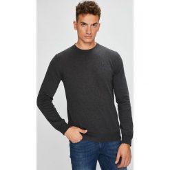 Trussardi Jeans - Sweter. Czarne swetry przez głowę męskie TRUSSARDI JEANS, z bawełny, z okrągłym kołnierzem. W wyprzedaży za 369.90 zł.