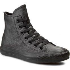 Trampki CONVERSE - Ct As Hi 135251C Black Mono. Czarne trampki męskie Converse, z gumy. W wyprzedaży za 279.00 zł.