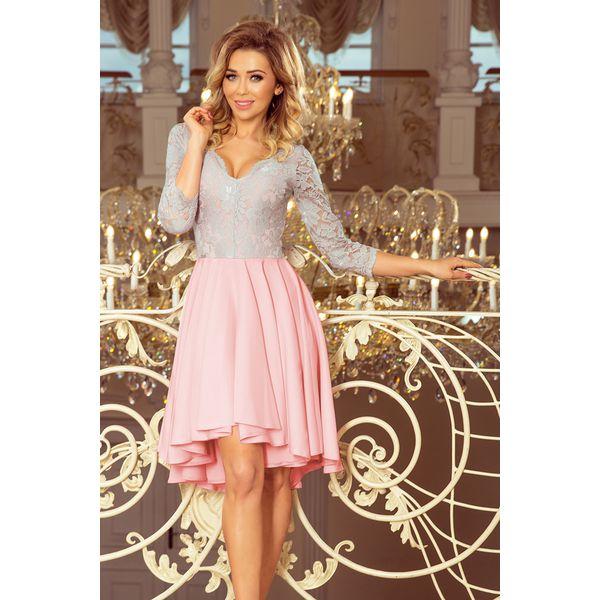 27370591ea03cc Izabelle. Wieczorowa sukienka z koronkową górą i asymetrycznym dołem ...