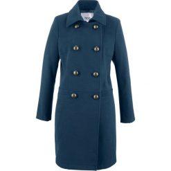 Płaszcz z materiału w optyce wełny bonprix ciemnoniebieski. Płaszcze damskie marki FOUGANZA. Za 189.99 zł.